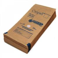 Пакеты из крафт-бумаги самоклеящиеся 100х200 мм, 100 шт/уп